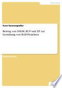 Beitrag von DSDM, RUP und XP zur Gestaltung von RAD-Projekten