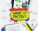 What Is Poetry  book