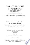 Great Epochs in American History