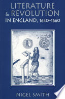 Literature and Revolution in England  1640 1660