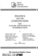 Politics And The Constitution