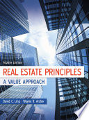 Real Estate Principles  A Value Approach