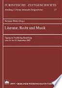 Literatur, Recht und Musik