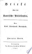 Briefe   ber die Kantische Philosophie