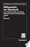 Bibliographie der Hispanistik in der Bundesrepublik Deutschland, Österreich und der deutschsprachigen Schweiz