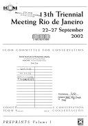 Thirteenth triennial meeting, Rio de Janiero, 22-27 September 2002, preprints