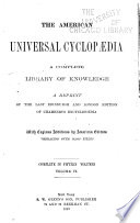 The American Universal Cyclop  dia