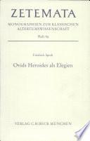 Ovids Heroides als Elegien