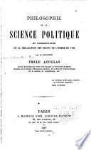 Philosophie de la science politique