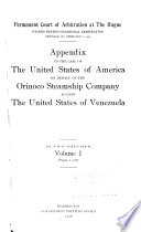 The Case Of The United States Of America On Behalf Of The Orinoco Steamship Company Against The United States Of Venezuela