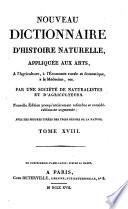 Nouveau dictionnaire d histoire naturelle  appliqu  e aux arts     l agriculture     l   conomie rurale et domestique     la m  decine  etc