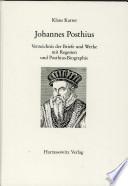 Johannes Posthius, (1537-1597)