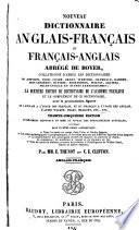 Nouveau dictionnaire anglais-français et français-anglais abrégé de Boyer