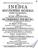 Disp  med  inaug  de inedia  morborum magnorum remedio