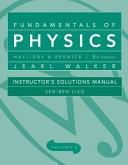 Instructor Solutions Manual T a Fundamentals of Physics