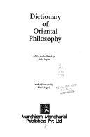 Dictionary of Oriental Philosophy
