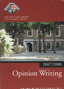 Opinion Writing 2007 2008