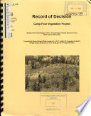 Chequamegon Nicolet National Forest  N F    Camp Four Vegetation Project