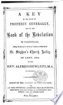 Anti Millenarian Lectures  delivered     in Lent  1854