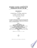 Department of Defense Authorization for Appropriations for Fiscal Year 2009