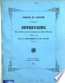 Inventaire des archives de la commune de Saint-Affrique, redigé par G. Desjardins & H. Affre