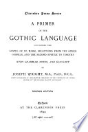 A Primer of the Gothic Language    Book PDF