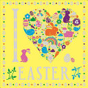 I Heart Easter : coloring book is filled with decorative...