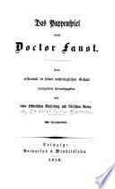 Das Puppenspiele vom Doctor Faust
