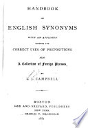 Handbook of English Synonyms