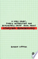 A Very Short  Fairly Interesting and Reasonably Cheap Book About Studying Criminology
