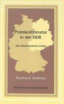 Protokolliteratur in der DDR