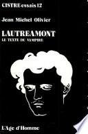 Lautréamont, le texte du vampire