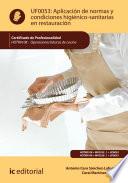 Aplicaci  n de normas y condiciones higi  nico sanitarias en restauraci  n  HOTR0108