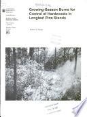 Growing-season Burns for Control of Hardwoods in Longleaf Pine Stands