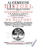 Algemeene histori van het begin der wereld af tot den tegenwoordigen tijd toe