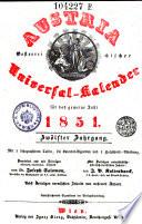 Austria oder Oesterreichischer Universal-Kalender. Hrsg. von Joseph Salomon. - Wien, Ignaz Klang (1840- ) (germ.)