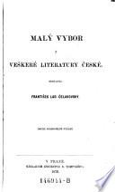 Malý vybor veškeré literatury české