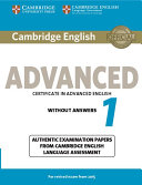 Cambridge English Advanced 1 for Revised Exam from 2015 Student s Book without Answers