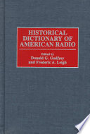 Historical Dictionary of American Radio