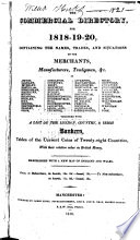 The Commercial Directory for 1818-19-20 ...