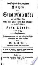 Hochfürstlich-salzburgischer Kirchen- und Staatskalender