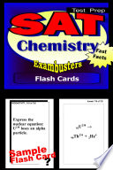 SAT Chemistry Test Prep Review  Exambusters Flash Cards