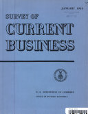 SURVEY OF CURRENT BUSINESS JANUARY 1955