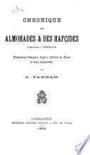 Chronique des Almohades   des Haf  ides