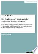 Der Drachenkampf   Altorientalischer Mythos und Moderne Rezeption