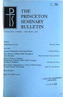 The Princeton Seminary Bulletin