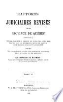 Rapports judiciaires revis  s de la Province de Qu  bec