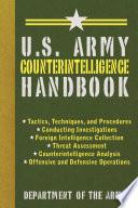 U S  Army Counterintelligence Handbook