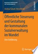 ffentliche Steuerung und Gestaltung der kommunalen Sozialverwaltung im Wandel