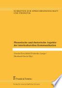 Phonetische und rhetorische Aspekte der interkulturellen Kommunikation